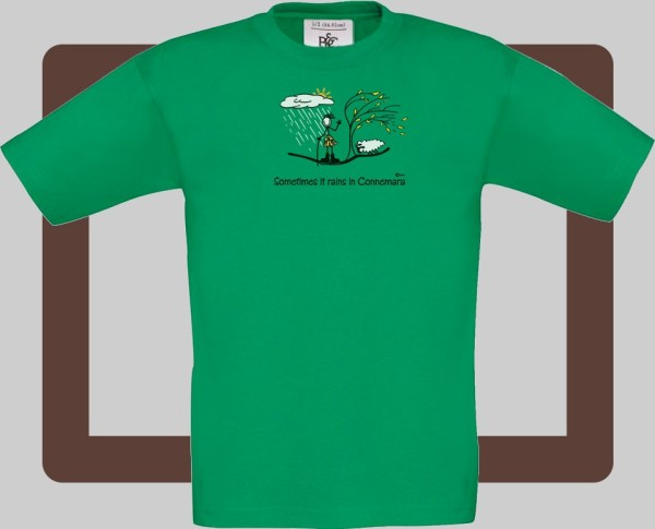 Our kids connemara green t-shirts are bright and fun for kids of all ages | T-shirts from Conn O'Mara for Connemara kids.