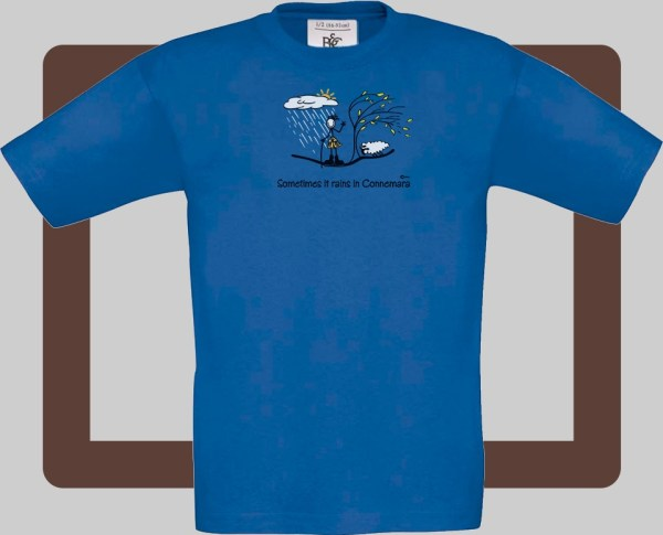 Our kids connemara blue t-shirts are bright and fun for kids of all ages | T-shirts from Conn O'Mara for Connemara kids.