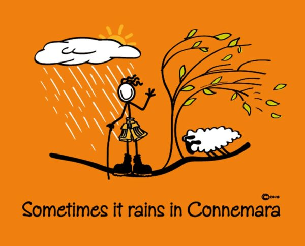 "Connemara clothing ""sometimes it rains"" t-shirt"