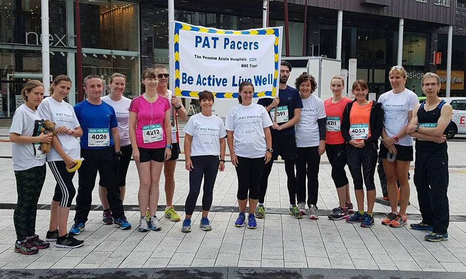 The PAT Pacers at the Bury 10k 2017