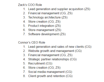 Connor and Zack Roles and Responsibilities 2