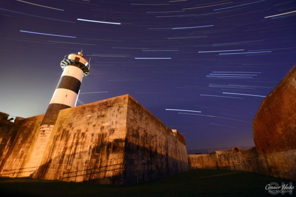 Startrails-Southsea-Castle-Astrophotography