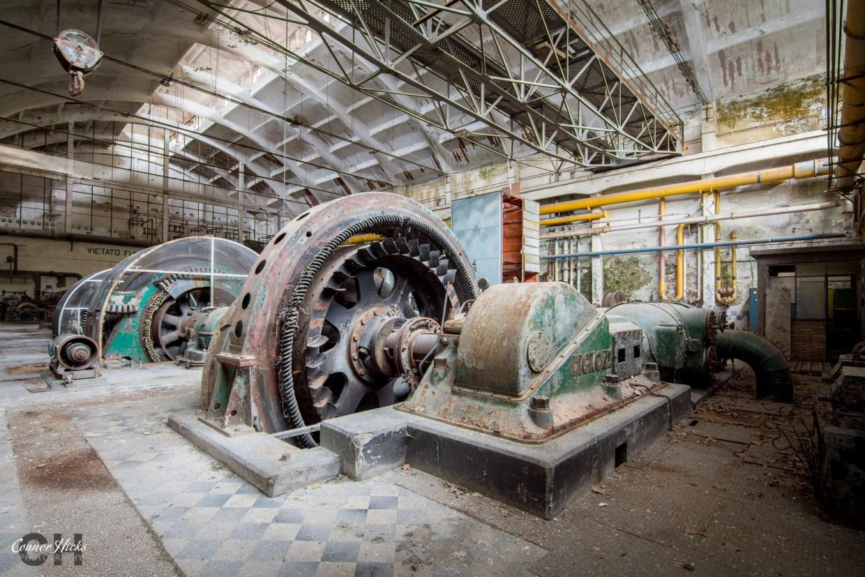 hydro power plant urbex italy
