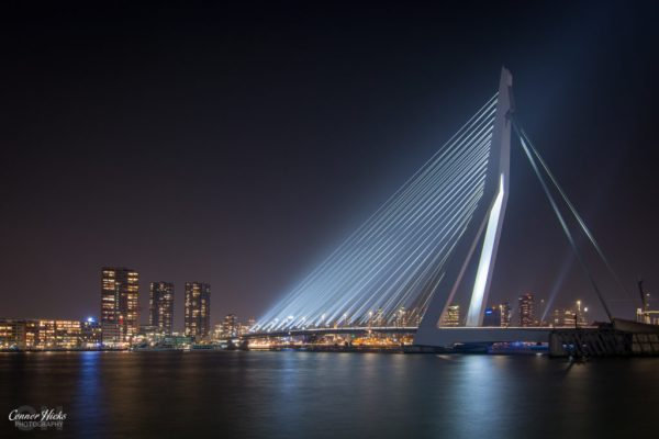 night-photography-rotterdam-Erasmusbrug,