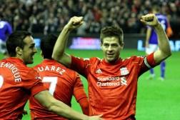 Photo of Gerrard celebrating