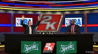 Ernie Johnson and Shaquille O'Neal