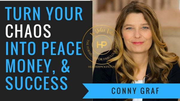 Conny Graf & Heather Picken talk about how important it is get organized in your business. Turn the chaos into peace, money, and success. http://connygraf.com #grafetized