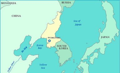 Mapa este de Asia