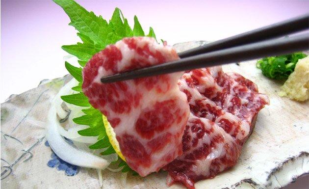 carne de caballo, gastronomía japonesa