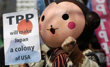 protestas contra el TPP