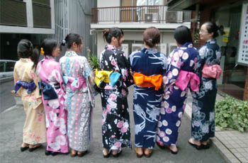 young women with yukata