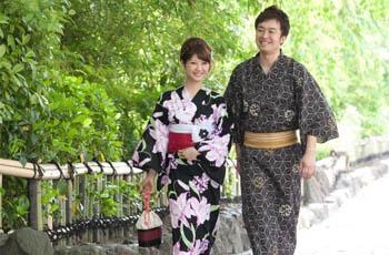 yukata de hombre y mujer