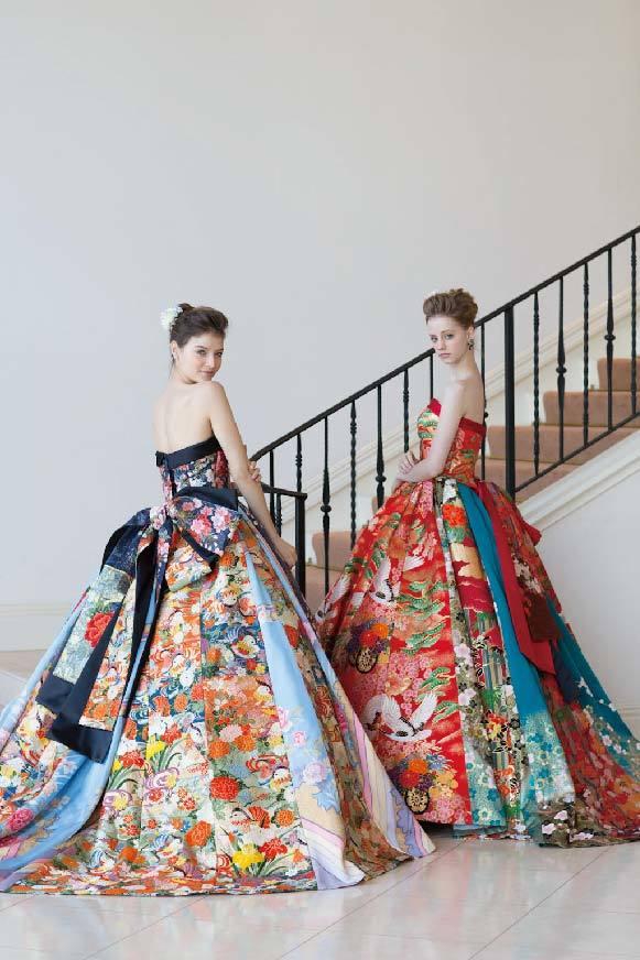 0e559f559 Kimonos transformados en vestidos de novia | Conoce Japón