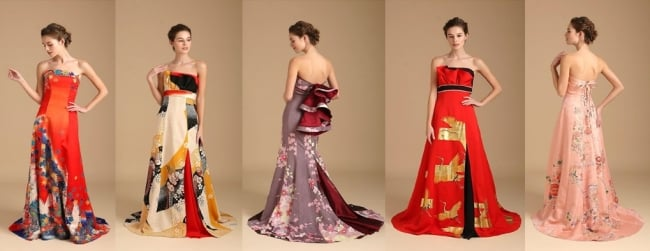 kimono como vestido de novia, por Watabe Wedding