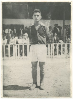 Francisco Ortega. Jugador del Hesperides y del Racing