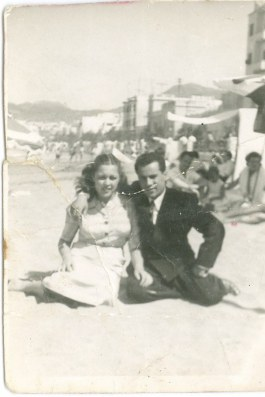Schafiq Halteh y Rosario Luzardo 1953, foto de José Halteh