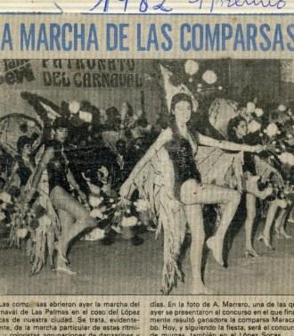 Concurso de comparsas 1982, primer premio de nuevo, imparables