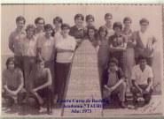 Puerta del Colegio Tauro. 1973. Chano, Blas, Mingo, Jorge, Machado, Arbelo, Gonzalo, Jose Luis, Federico, Mendez, Agustin, Enrique, Caro, Gabi Perdomo, Pulgoso, Quevedo y Vicente