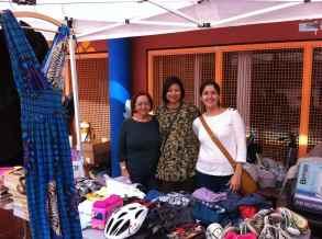 Carmen, Vicky y Rita, muchas gracias por la ayuda, vendieron todo lo que pudieron...