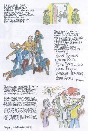 Cómic realizado por Paco Villanueva sobre los sucesos del 15 de Noviembre