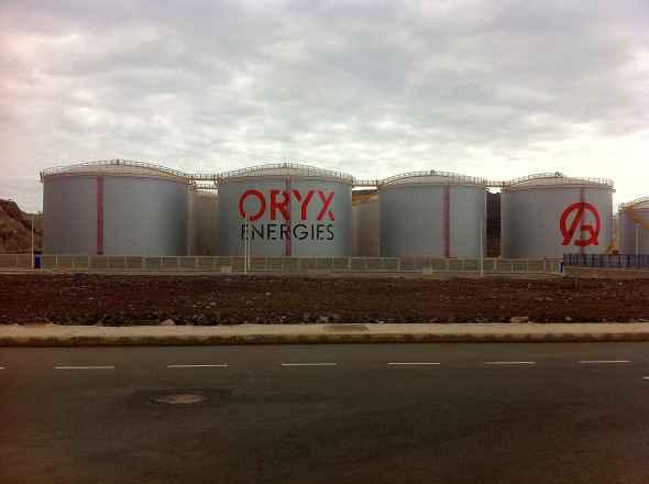 Foto tanques de Oryx terminados