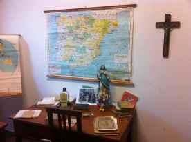 Sala museo en el colegio Canteras. La Isleta