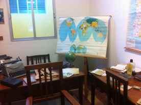 Mapas y material escolar antiguo del Colegio Canteras
