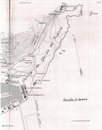Mapa túneles Base Naval