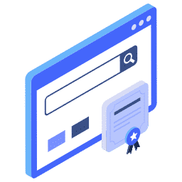 isometric browser certificate https secure ssl window icon