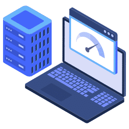 isometric fast load server speed speedometer web website icon