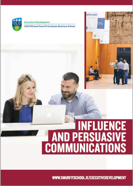 UCD Smurfit, Influence and Persuasive Communications Seminar