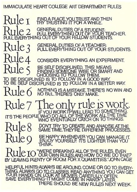10 Rules for Students (and Teachers)