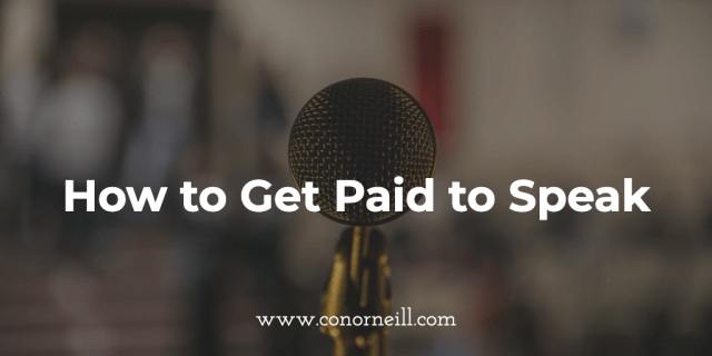 How to Get Paid to Speak