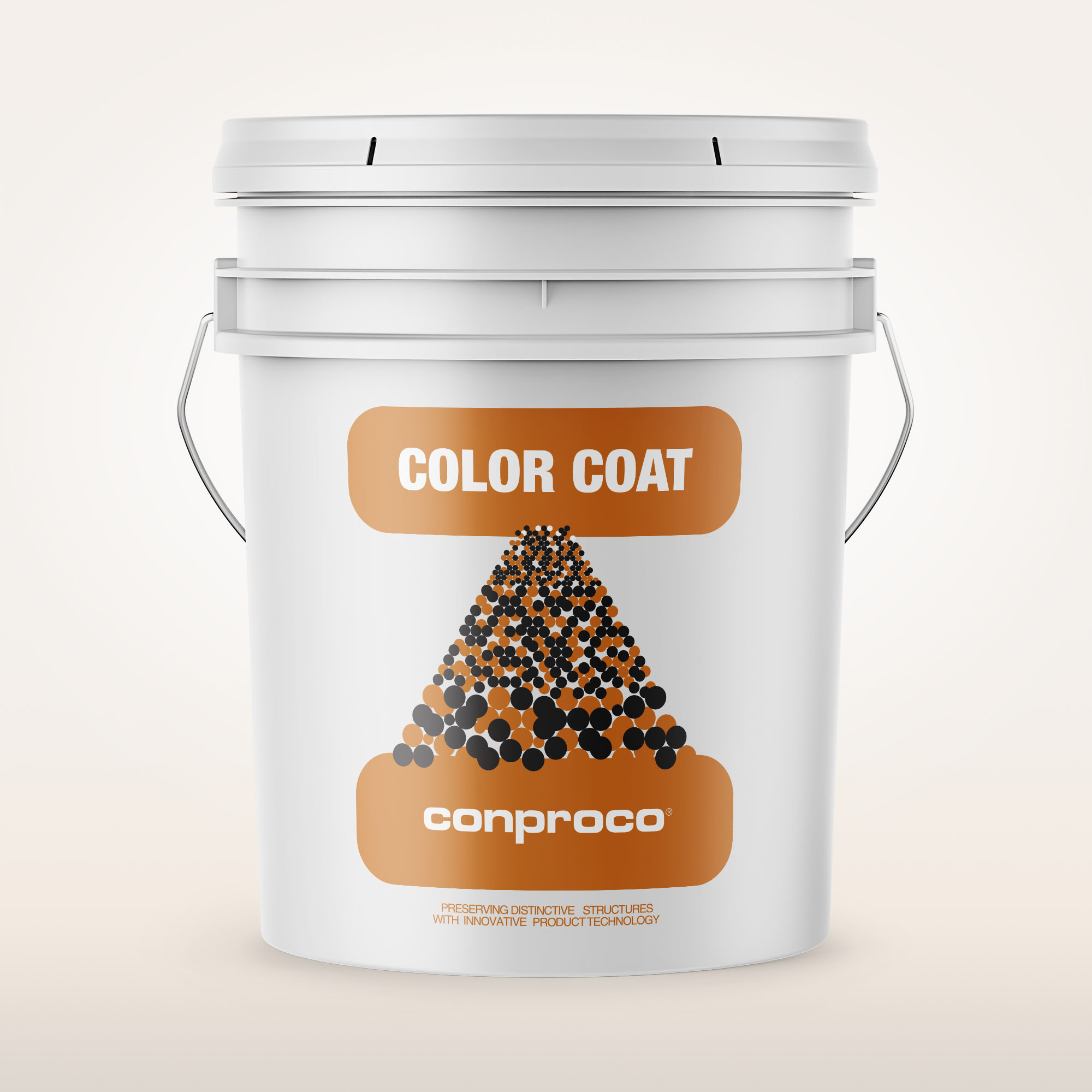 Color Coat 5 gallon bucket of paint for concrete masonry units