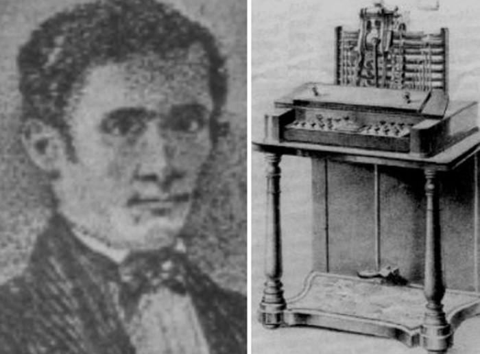 Um homem e uma máquina