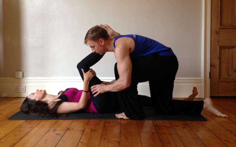Conrad doing sports massage