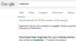 tonos móvil Google