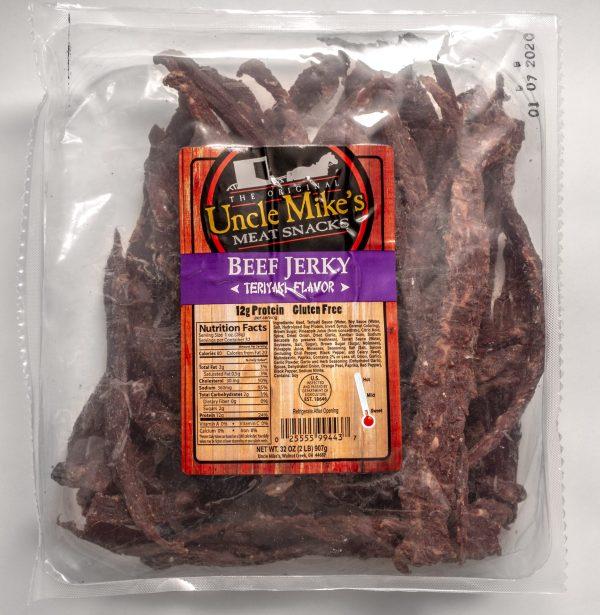 uncle mike's teriyaki beef jerky