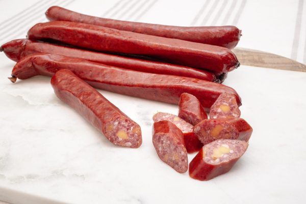 groff's sweet beef sticks with cheese