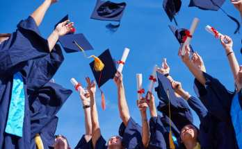 Students celebrate getting better grades and graduating.