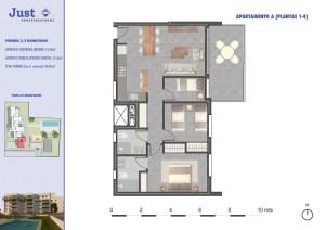 Residencial Sureste Denia vivienda tipo A 3 dormitorios