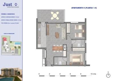 Residencial Sureste Denia vivienda tipo D 2 dormitorios