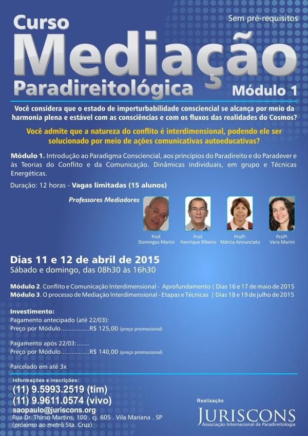 curso de mediação paradireitológica - cartaz