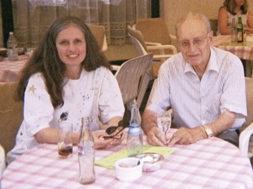 Ingrid King with her father