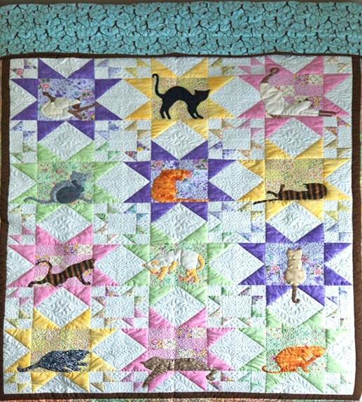 Siamese cat quilt