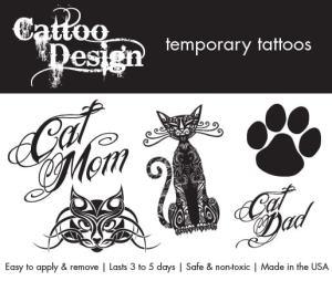 temporary cat tattoos