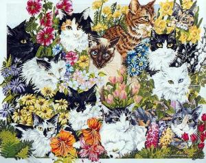 my favorite cats painting by Wendy Christensen