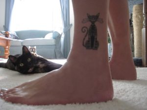 temporary cat tattoo from Cattoo Designs