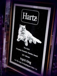 2011 Hartz Chewable Vitamins Award