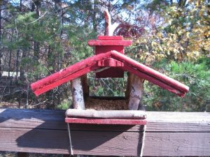 homemade birdfeeder